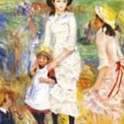 Children On The Seashore 1883 Art Print