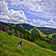 Children On Vail Mountain Art Print