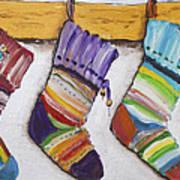 Children's  Socks For Christmas Gifts Art Print
