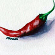 Chili Pepper Red 001 - Mini Study Art Print