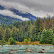 Chillkoot River Hdr Paint Art Print
