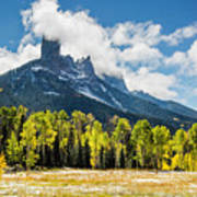 Chimney Rock Autumn Art Print