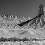Chimney Rock In Black And White - Towaoc Colorado Art Print
