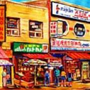 Chinatown Markets Art Print