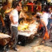 Chinatown Rain Art Print