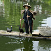 Chinese Cormorant Fisherman Art Print