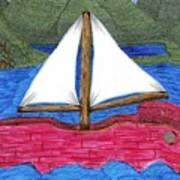Chinese Fishing Boat Art Print