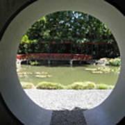 Chinese Garden View Art Print