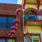 Chinese Lanterns Over Grant Street Art Print
