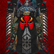Chinese Masks - Large Masks Series - The Red Face Art Print