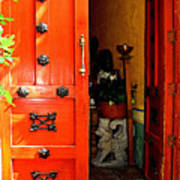 Chinese Red Shop Door Art Print