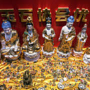 Chinese Religious Trinkets And Statues On Display In Xiamen Chin Art Print