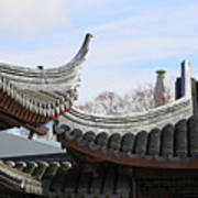 Chinese Rooflines Art Print