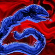 Chinese Serpent Rising Art Print