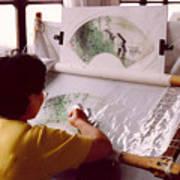 Chinese Silk Art Print
