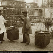 Chinese Vegtable Pedler In San Francisco Circa 1880 Art Print