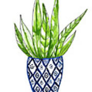 Chinoiserie Cactus No2 Art Print