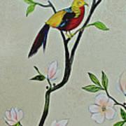 Chinoiserie - Magnolias And Birds #1 Art Print