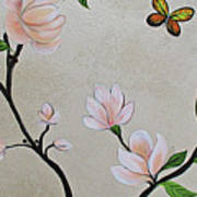 Chinoiserie - Magnolias And Birds #3 Art Print
