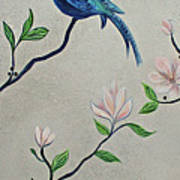 Chinoiserie - Magnolias And Birds #4 Art Print