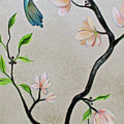 Chinoiserie - Magnolias And Birds #5 Art Print