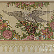 Chintz Valance For Poster Bed Art Print