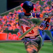 Chipper Jones Art Print by Rod Kaye