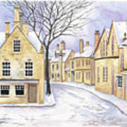 Chipping Campden In Snow Art Print
