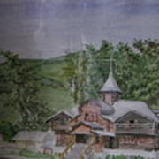 Chirch Near Gorno-altaisk  Art Print