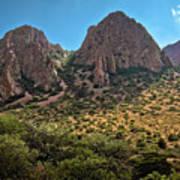 Chisos Mountain Range Art Print