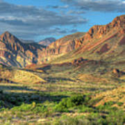 Chisos Mountains Of West Texas Art Print