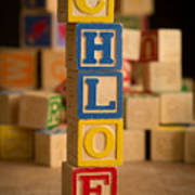 Chloe - Alphabet Blocks Art Print