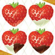Chocolate - 7  Strawberry Art Print