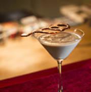 Chocolate And Cream Martini Cocktail Art Print
