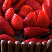 Chocolate And Strawberry Cake Art Print