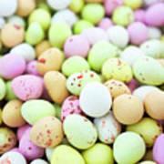 Chocolate Eggs Art Print
