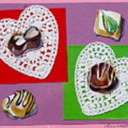 Chocolate Hearts Art Print