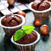 Chocolate Muffins Art Print