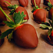 Chocolate Strawberries Art Print