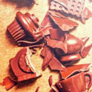 Chocolate Tableware Destruction Art Print