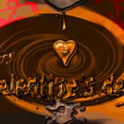 Chocolate Valentine Art Print
