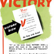 Choose For Victory -- Ww2 Art Print