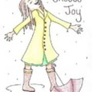 Choose Joy Woman Art Print