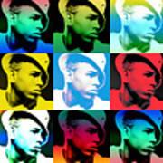 Chris Brown Warhol By Gbs Art Print by Anibal Diaz