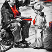 Chris-craft Sailor And Sailor Vintage Ad Art Print