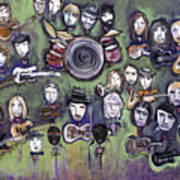 Chris Daniels And Friends Art Print by Laurie Maves ART