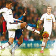 Chris Smalling  In Action  Art Print