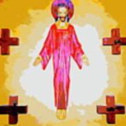 Christ And Crosses Art Print