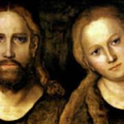 Christ And Mary Art Print