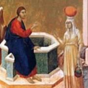 Christ And The Samaritan Woman Fragment 1311 Art Print